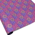 Metallic Screenprinted Indian Cotton Rag Paper - HENNA - Pink/Purple/Gold