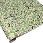 Metallic Screenprinted Indian Cotton Rag Paper - CHAMELEON EYE - Greens