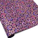 Metallic Screenprinted Indian Cotton Rag Paper - CHAMELEON EYE - Pink/Purple