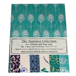 Handmade Nepalese Lokta Paper Pack - BLUES/GREENS