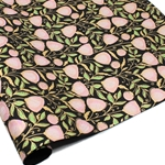 Metallic Screenprinted Indian Cotton Rag Paper - THINK PINK FLORAL