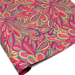 Metallic Screenprinted Indian Cotton Rag Paper - FLORAL SPLASH