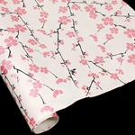 Silkscreened Nepalese Lokta Paper- BLOSSOM - Pink on Natural