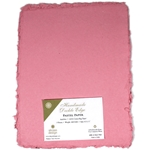 Handmade Deckle Edge Indian Cotton Paper Pack - MEDIUM PINK