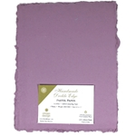 Handmade Deckle Edge Indian Cotton Paper Pack - EASTER PURPLE