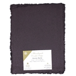 Handmade Deckle Edge Indian Cotton Paper Pack - EGGPLANT PURPLE