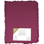 Handmade Deckle Edge Indian Cotton Paper Pack - HOT PURPLE