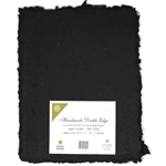 Handmade Deckle Edge Indian Cotton Paper Pack - BLACK