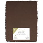 Handmade Deckle Edge Indian Cotton Paper Pack - BROWN