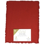 Handmade Deckle Edge Indian Cotton Paper Pack - RED