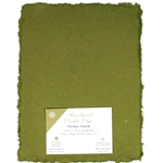 Handmade Deckle Edge Indian Cotton Paper Pack - MOSS GREEN