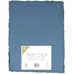 Handmade Deckle Edge Indian Cotton Paper Pack - BLUE