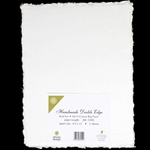Handmade Deckle Edge Indian Cotton Paper Pack - WHITE
