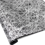 Silkscreened Nepalese Lokta Paper - Net - SILVER ON BLACK