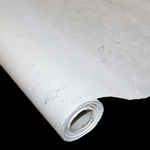 Korean Hanji Paper Roll - 35GSM - WHITE WITH GRASS INCLUSIONS