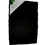 "Handmade Deckle Edge Indian Cotton Watercolor Paper Pack - BLACK - SMOOTH - 12"" x 18"""
