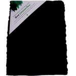 "Handmade Deckle Edge Indian Cotton Watercolor Paper Pack - BLACK - SMOOTH - 9"" x 12"""