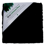 "Handmade Deckle Edge Indian Cotton Watercolor Paper Pack - BLACK - SMOOTH - 8"" x 8"""