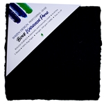 "Handmade Deckle Edge Indian Cotton Watercolor Paper Pack - BLACK - ROUGH - 8"" x 8"""