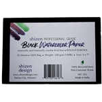 "Handmade Deckle Edge Indian Cotton Watercolor Paper Pack - BLACK - ROUGH - 5"" x 7"" - 50 Sheets"