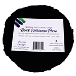 "Handmade Deckle Edge Indian Cotton Watercolor Paper Pack - BLACK - ROUGH - ROUND 8"" x 8"""