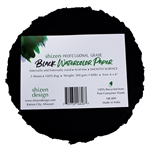 "Handmade Deckle Edge Indian Cotton Watercolor Paper Pack - BLACK - SMOOTH - ROUND 6"" x 6"""