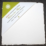 "Handmade Deckle Edge Indian Cotton Watercolor Paper Pack - ROUGH - 8"" x 8"""
