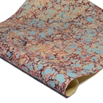 Italian Marbled Paper - STONE - Turquoise/Peach/Burgundy
