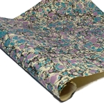 Italian Marbled Paper - STONE - Black/Teal/Lavender