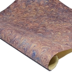 Italian Marbled Paper - PEACOCK - Mauve/Blue/Gold