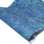 Italian Marbled Paper - RIVER - Blue/Green/Black