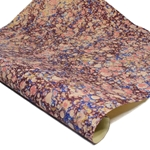 Italian Marbled Paper - STONE - Navy/Burgundy/Peach