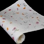 Heavyweight Mulberry Paper - PINK AND ORANGE BOUGAINVILLEA