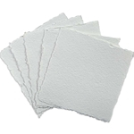 "Handmade Deckle Edge Indian Cotton Watercolor Paper Pack - SMOOTH - 4"" x 4"""