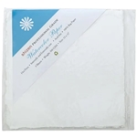 "Handmade Deckle Edge Indian Cotton Watercolor Paper Pack - SMOOTH - 12"" x 12"""