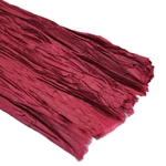Thai Pleated Unryu/Mulberry Paper - BURGUNDY