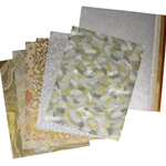 Assorted Silver and Gold Holiday Paper Pack (15 Sheets)