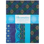 Handmade Indian Cotton Paper Pack - SCREENPRINTED - TURQUOISE