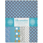 Handmade Indian Cotton Paper Pack - SCREENPRINTED - LIGHT BLUE AND SILVER