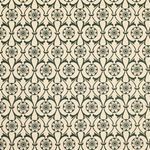 Italian Carta Varese Paper - Flower in Circle - GREEN