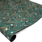 Brazilian Marbled Paper - WAVED GELGIT - Turquoise