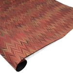 Brazilian Marbled Paper - CHEVRON - Red