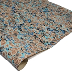 Brazilian Marbled Paper - FRENCH SHELL - Blue/Teal