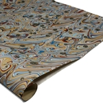 Brazilian Marbled Paper - FANTASY - Red/Blue