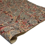 Brazilian Marbled Paper - GLOSTER - Red/Brown