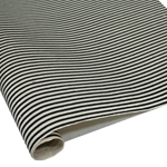 Silkscreened Nepalese Lokta Paper - Stripes - BLACK AND CREAM