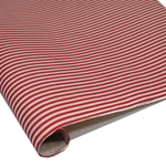 Silkscreened Nepalese Lokta Paper - Stripes - RED AND CREAM