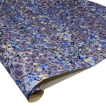 Brazilian Marbled Paper - FRENCH SHELL - Blue/Purple
