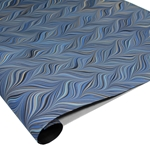 Brazilian Marbled Paper - WAVED GELGIT - Blue