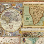 Italian Florentine Paper - WORLD MAPS